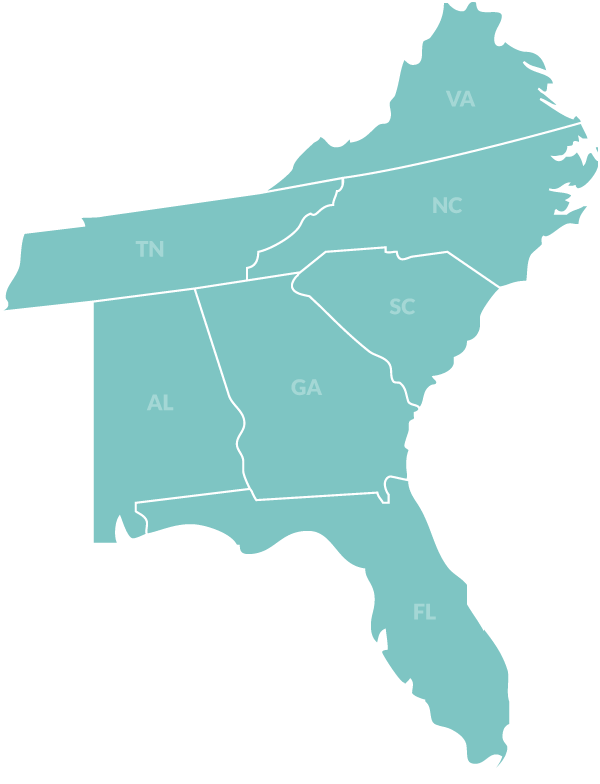 map-southeast